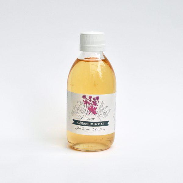 sirop de géranium rosat