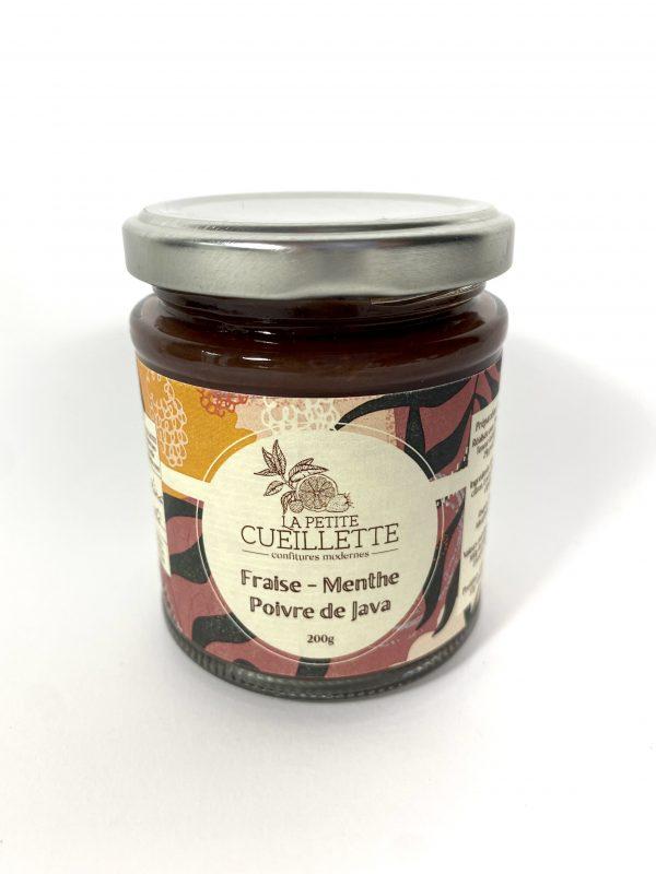 Confiture fraise menthe poivre de Java